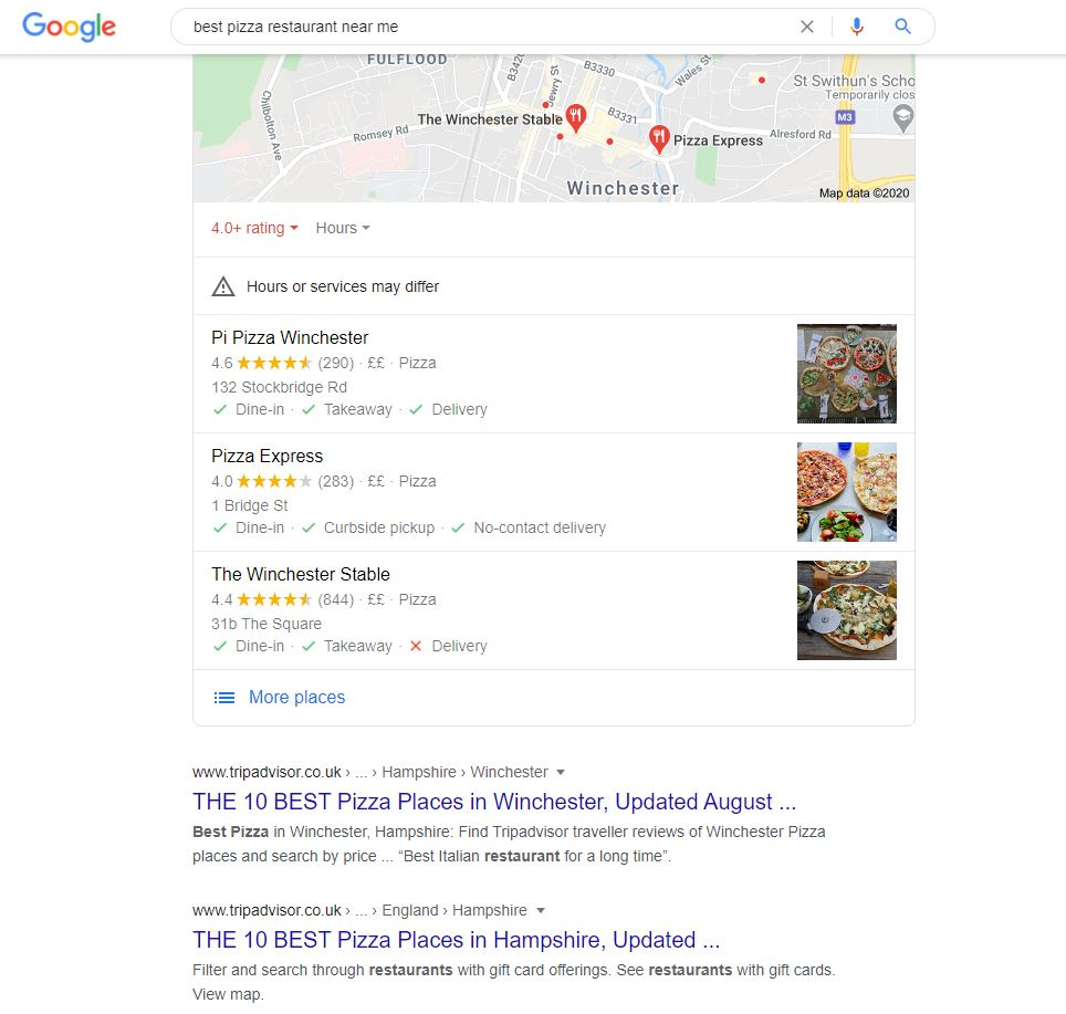 Best Pizza Near Me Google Search Engine